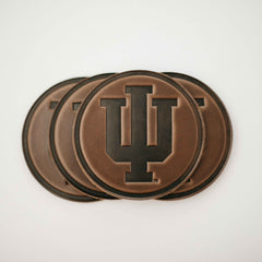 Indiana University Leather Coaster