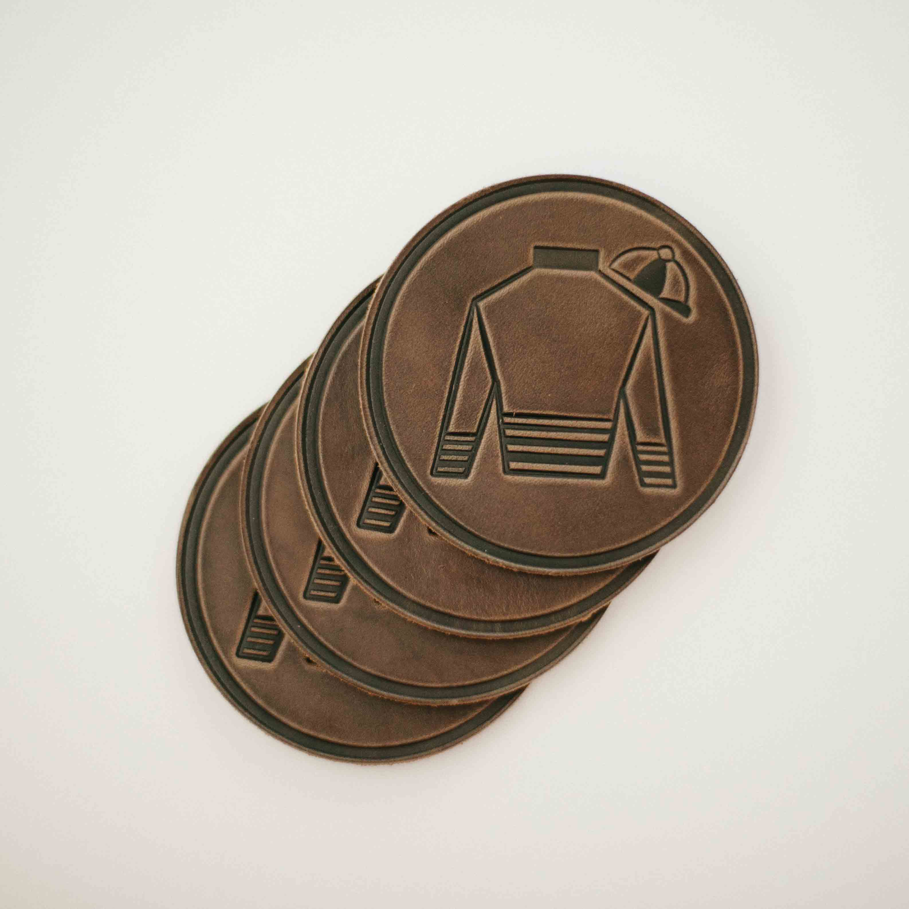Leather Jockey Silk Coaster