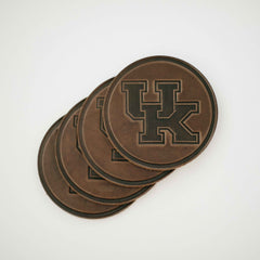 UK Leather Coaster