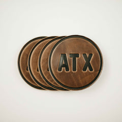 Austin leather Coasters
