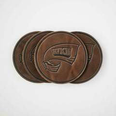 WKU Leather Coaster