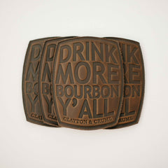 drink more bourbon coasters