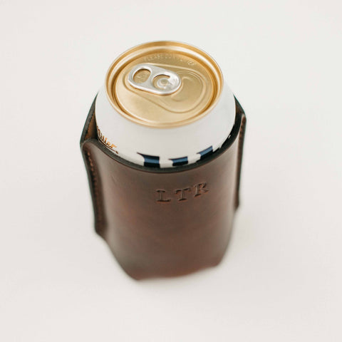 Leather Koozie for 12oz Cans