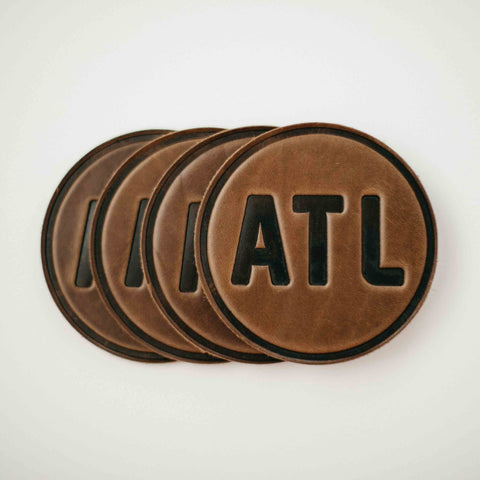 leather Atlanta coasters