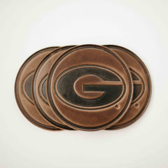 University of Georgia Leather Coaster