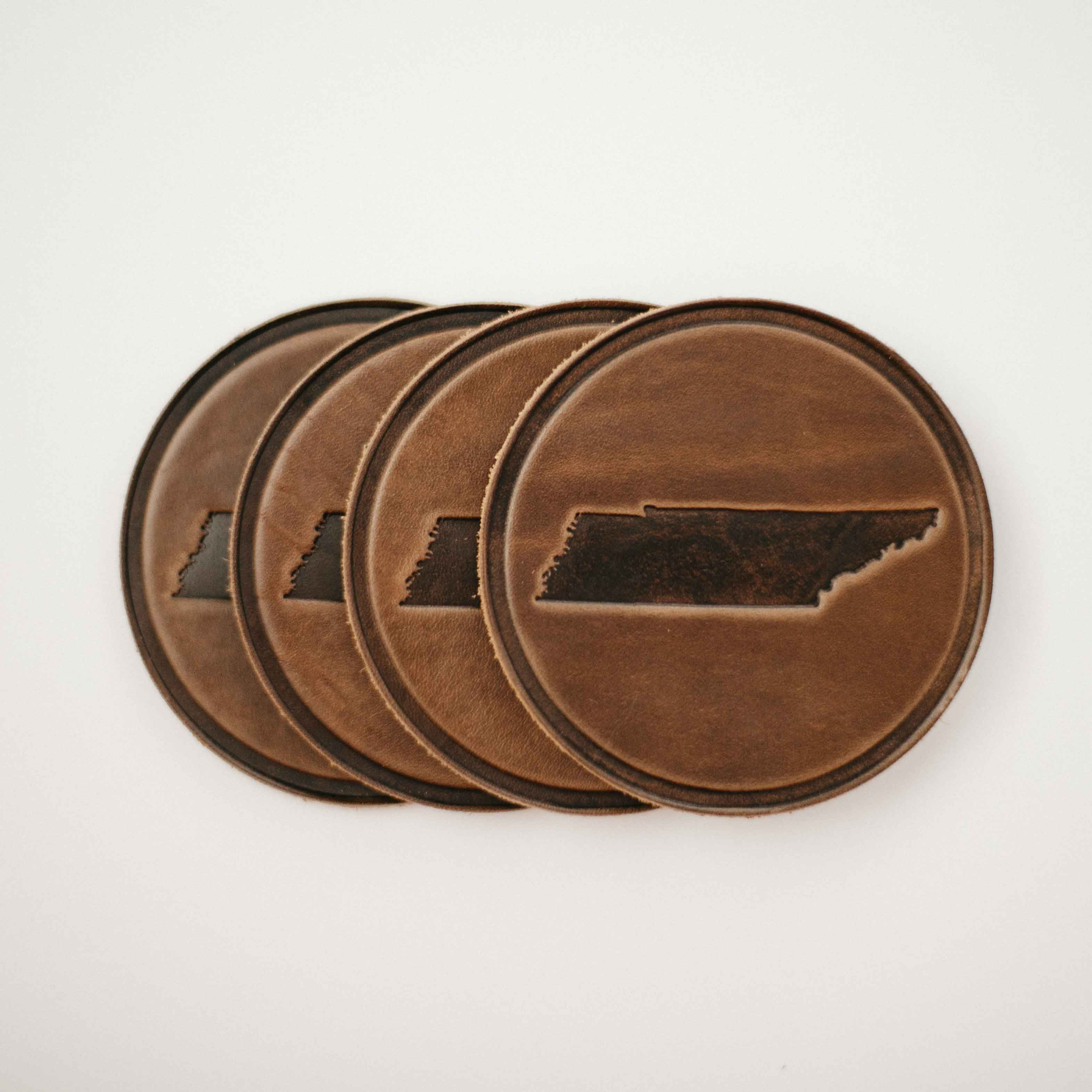 Tennessee Leather Coaster