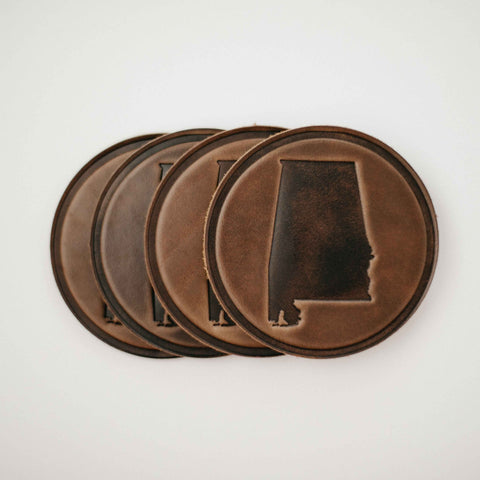 Alabama Leather Coasters