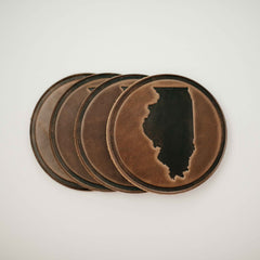 Illinois Leather Coaster