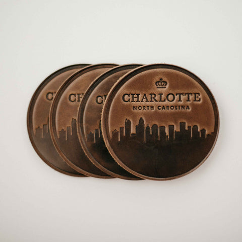 leather Charlotte coasters