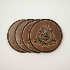 Charleston Coasters leather