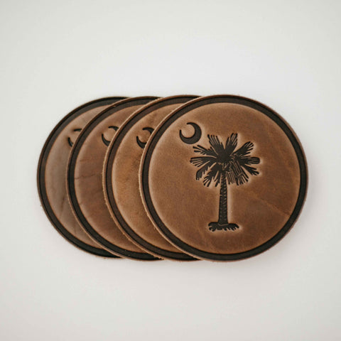 Palmetto Coaster Leather