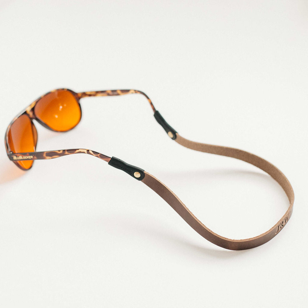 Monogrammed Leather Sunglass Strap