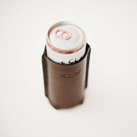 Leather Seltzer Koozie for Her