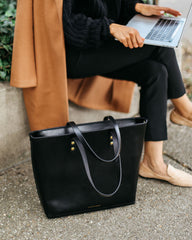 Large Black Zip Tote