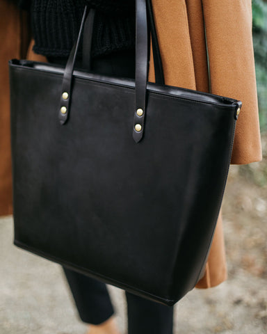 Batch II Large Black Zip Tote