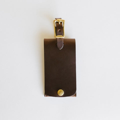 Dark Brown Luggage Tag
