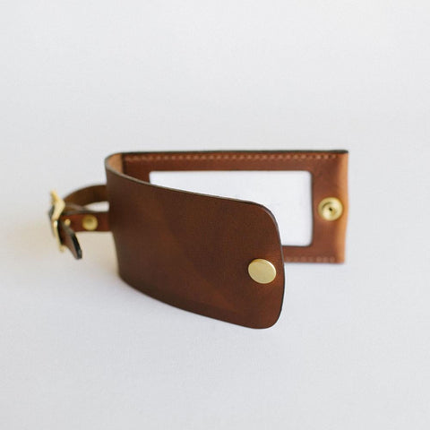 Antique Saddle Luggage Tag