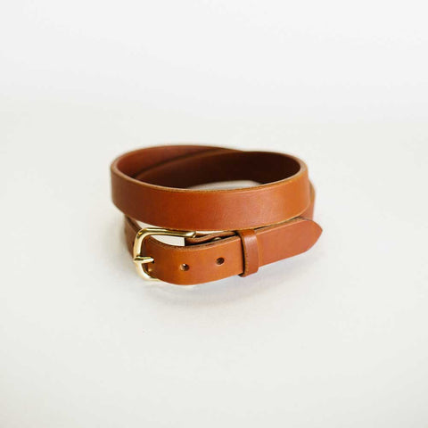 Traditional Unstitched Antique Saddle Belt