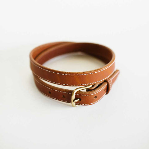 Ladies Stitched Antique Saddle Belt