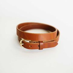 Narrow Antique Saddle Belt