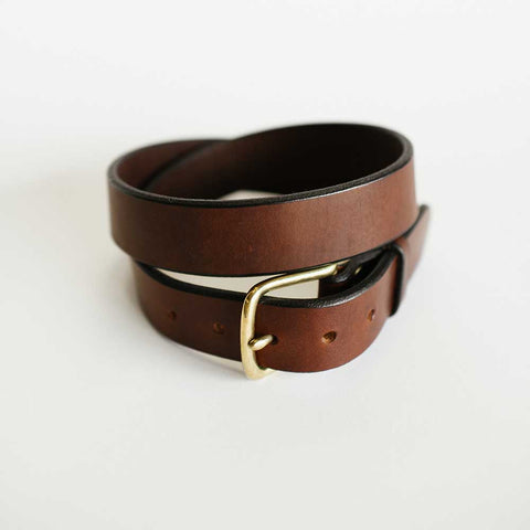 Traditional Unstitched Brown Bridle Belt