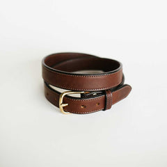 Traditional Stitched Brown Bridle Belt