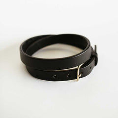 Ladies Black Bridle Belt