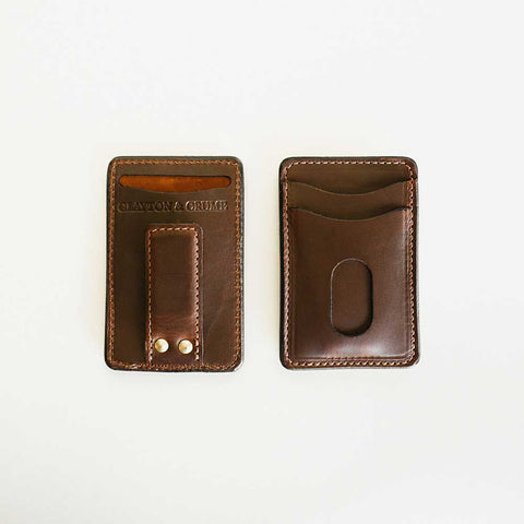 Dark Brown Money Clip Wallet