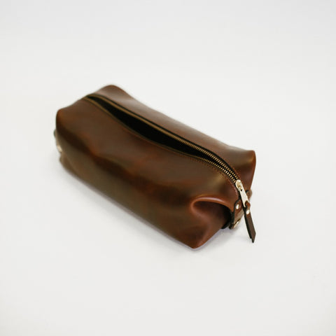 Dark Brown Dopp Kit