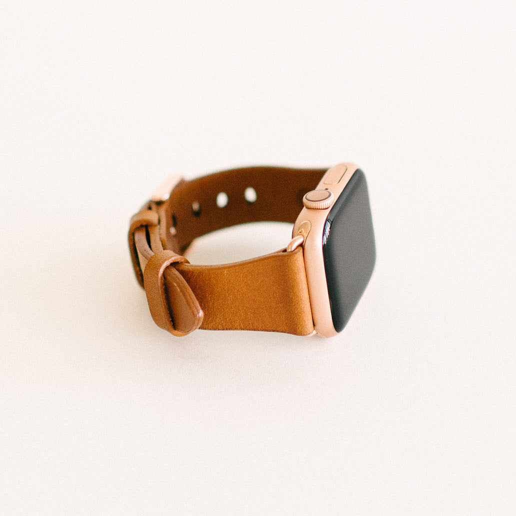 Whiskey Apple Watch Strap 40mm Rose Gold
