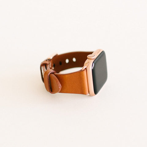 Chestnut Apple Watch Strap 40mm Rose Gold