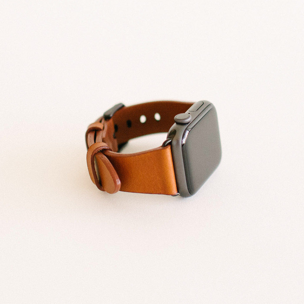 Chestnut Apple Watch Strap 40mm Black