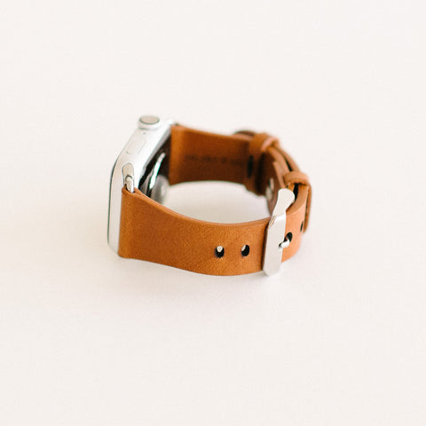 Whiskey Apple Watch Strap 40mm Silver