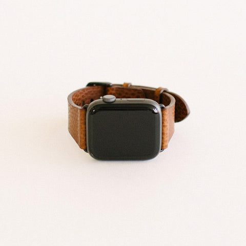 Tumbled Brown Apple Watch Strap 44mm