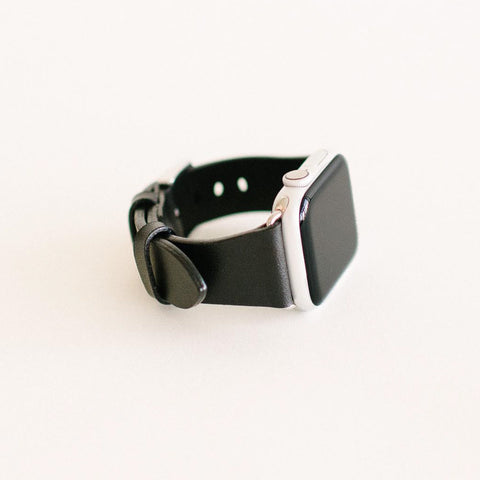 Black Apple Watch Strap 40mm Silver