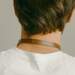 Leather Monogram Sunglass Strap from Behind
