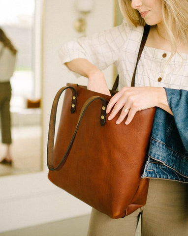 Tumbled Chestnut Tote
