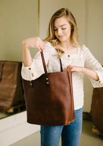 Burnished Brown Tote