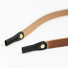 Close up of Leather Sunglass Strap Silicon Grips