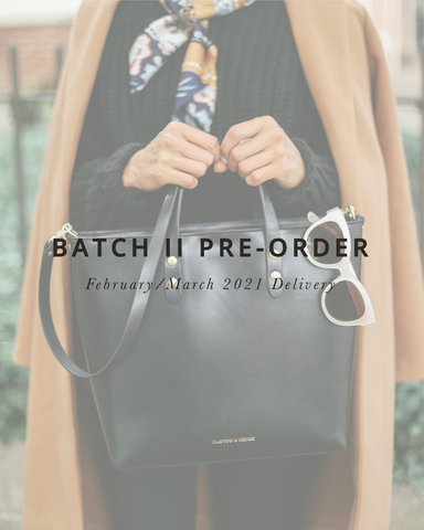 Batch II Medium Black Zip Tote
