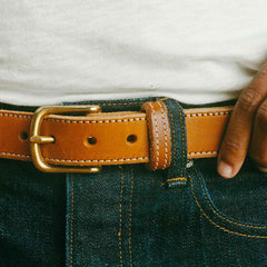 Full-Grain Leather Belt in Use