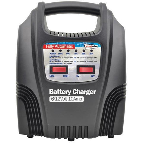 10amp Automatic Battery Charger with LEDs