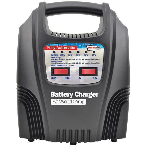 10amp Automatic Battery Charger with LEDs - HWB Car Parts