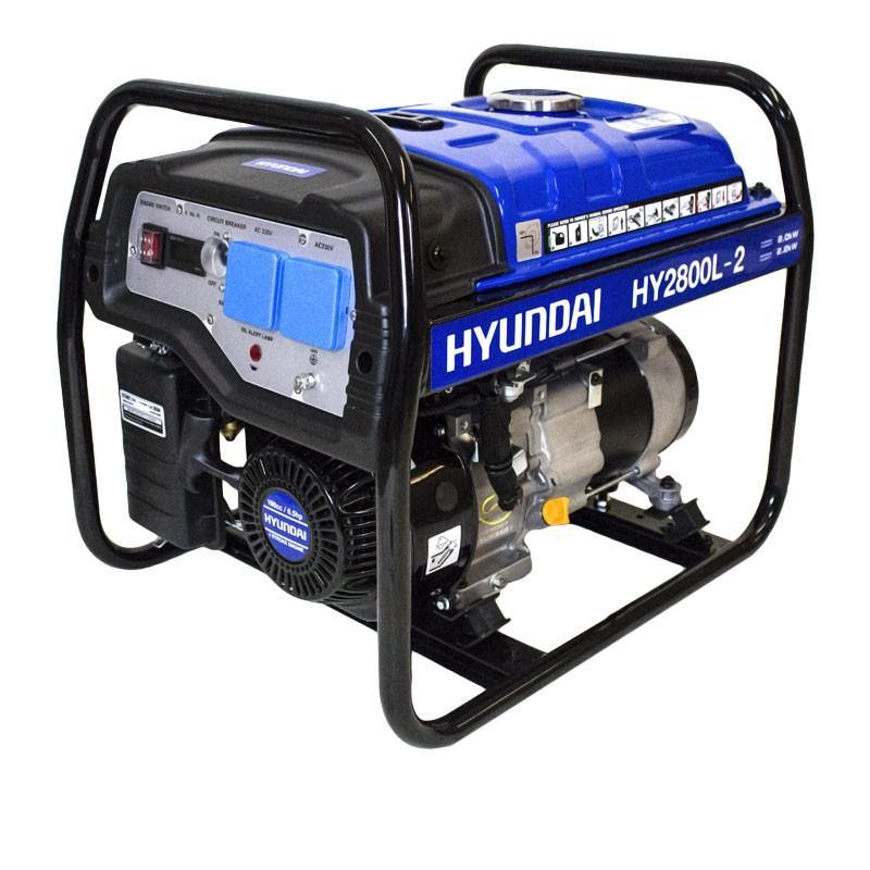 Refurbished Hyundai HY2800L-2 2.2kW / 2.75kVa* Recoil Start Site Petrol Generator