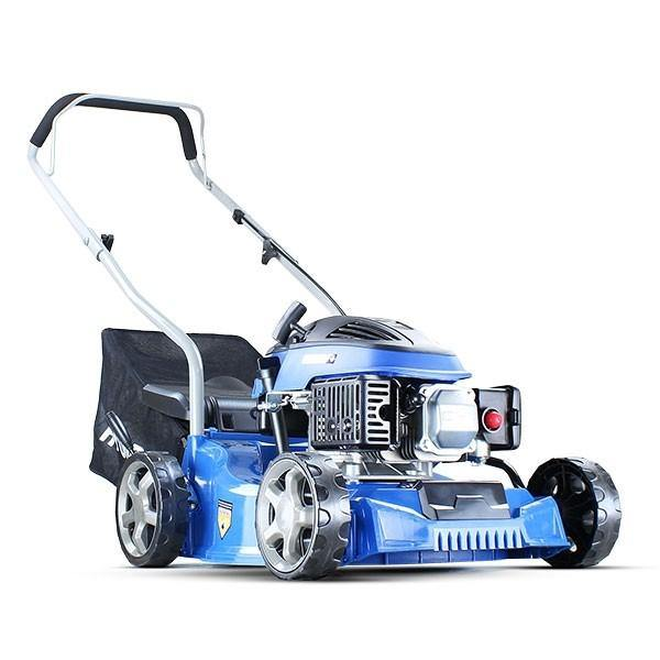 Hyundai HYM400P 79cc / 400mm Push Rotary Petrol Lawn Mower Plus Free 500ml Oil