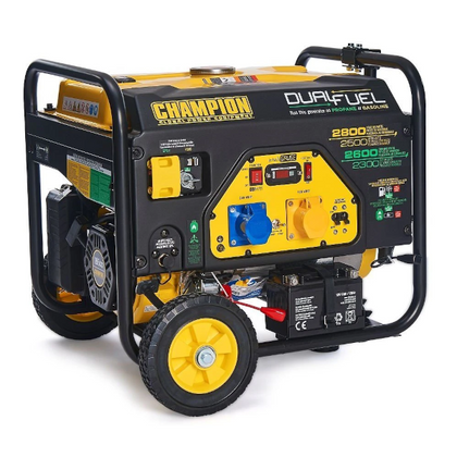 Champion CPG3500E2-DF 2800 Watt / 2.8kw LPG Dual Fuel Generator / Electric Start - HWB Car Parts