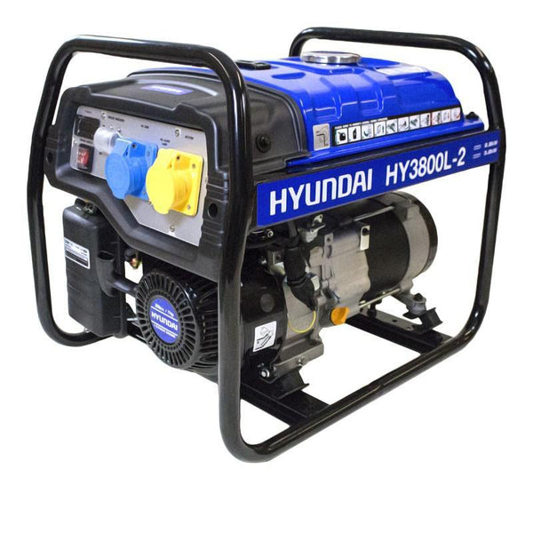 Refurbished Hyundai HY3800L-2 3.2kW / 4.00kVa* Recoil Start Site Petrol Generator - HWB Car Parts