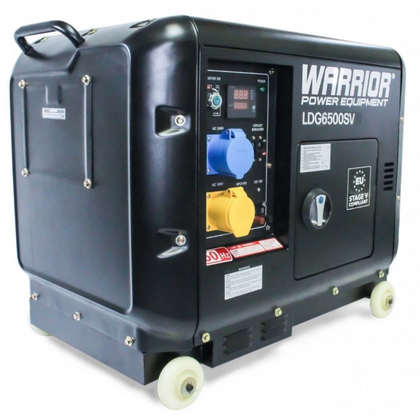 Warrior LDG6500SV 6.25KVA / 5.5KW Silenced Diesel Generator - HWB Car Parts