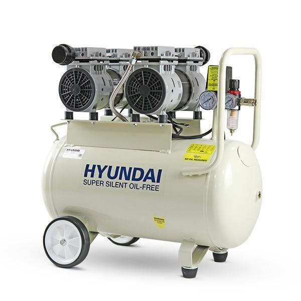 Hyundai HY27550 11CFM, 1500w 2HP, 50 Litre Oil Free Low Noise Electric Air Compressor