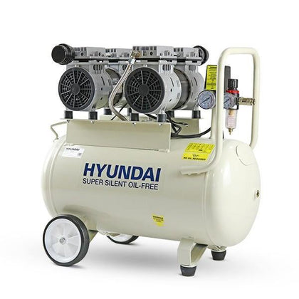 Hyundai HY27550 11CFM, 1500w 2HP, 50 Litre Oil Free Low Noise Electric Air Compressor - HWB Car Parts